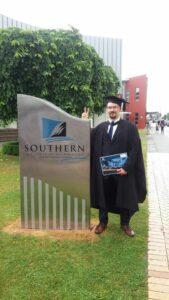 Sampsa Vires opiskeli Post Graduate Diploma in Information Technology –tutkinnon